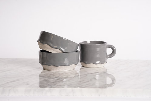 Charcoal Drippy Ceramics