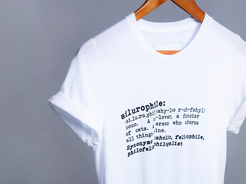 The Ailurophile T-shirt (White)