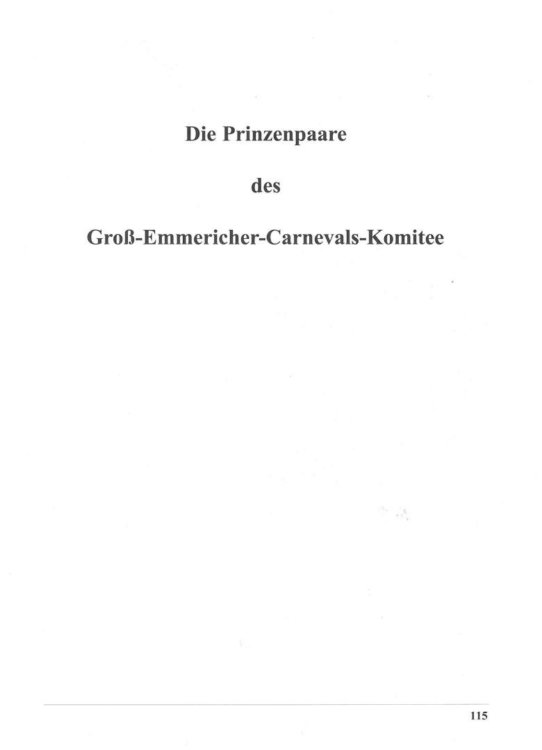 Prinzenpaare und Tollitäten - 1971 - 2004