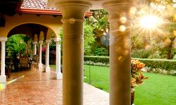 Casa Campana Backyard Terrace Columns