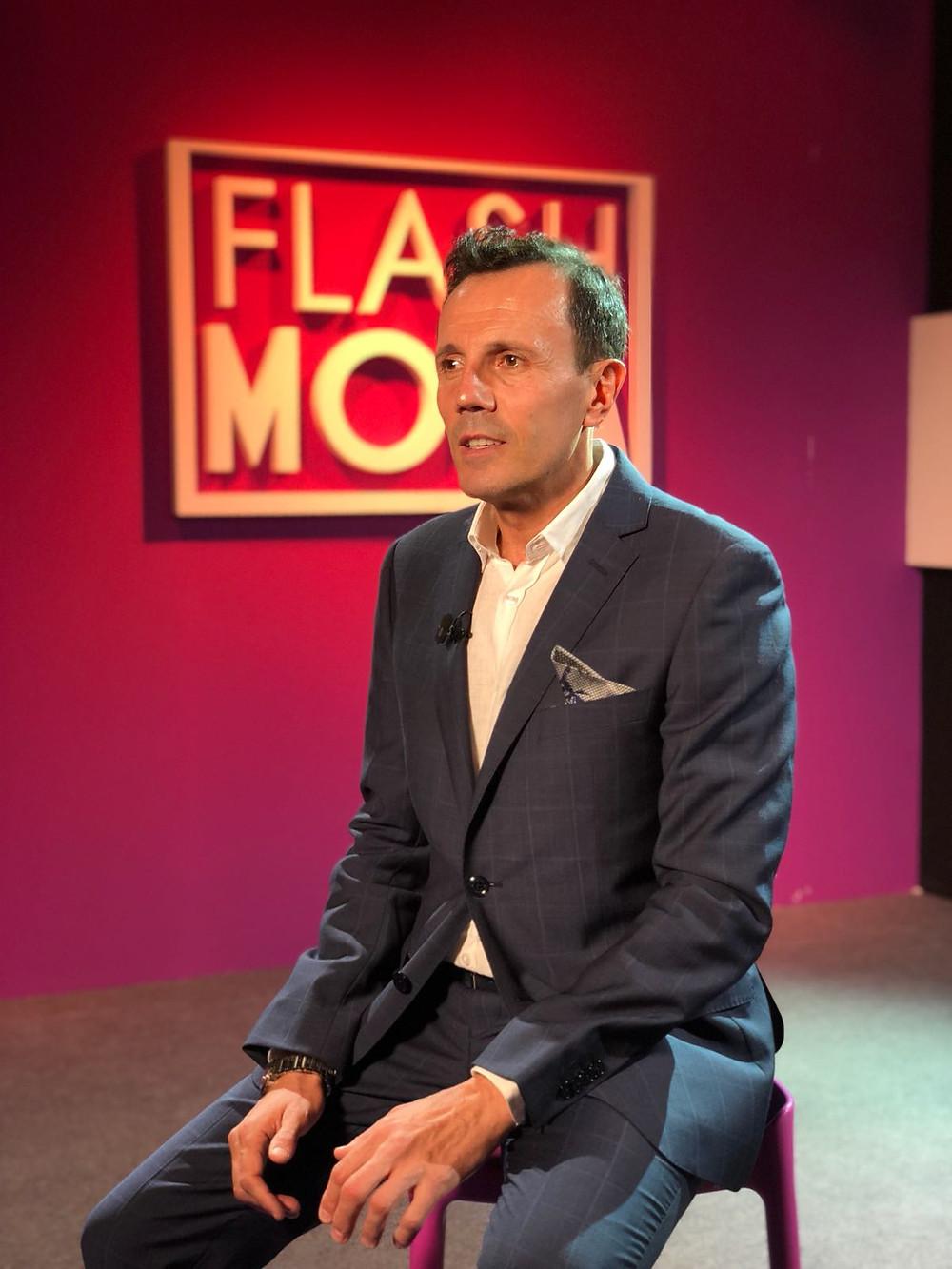 Jesús María Montes Fernández, en el plató de Flash Moda