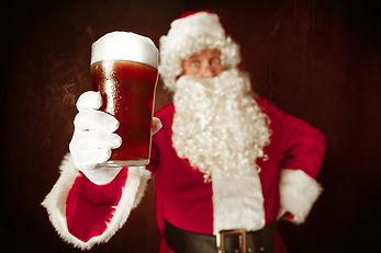 Portrait of Man in Santa Claus Costume.j