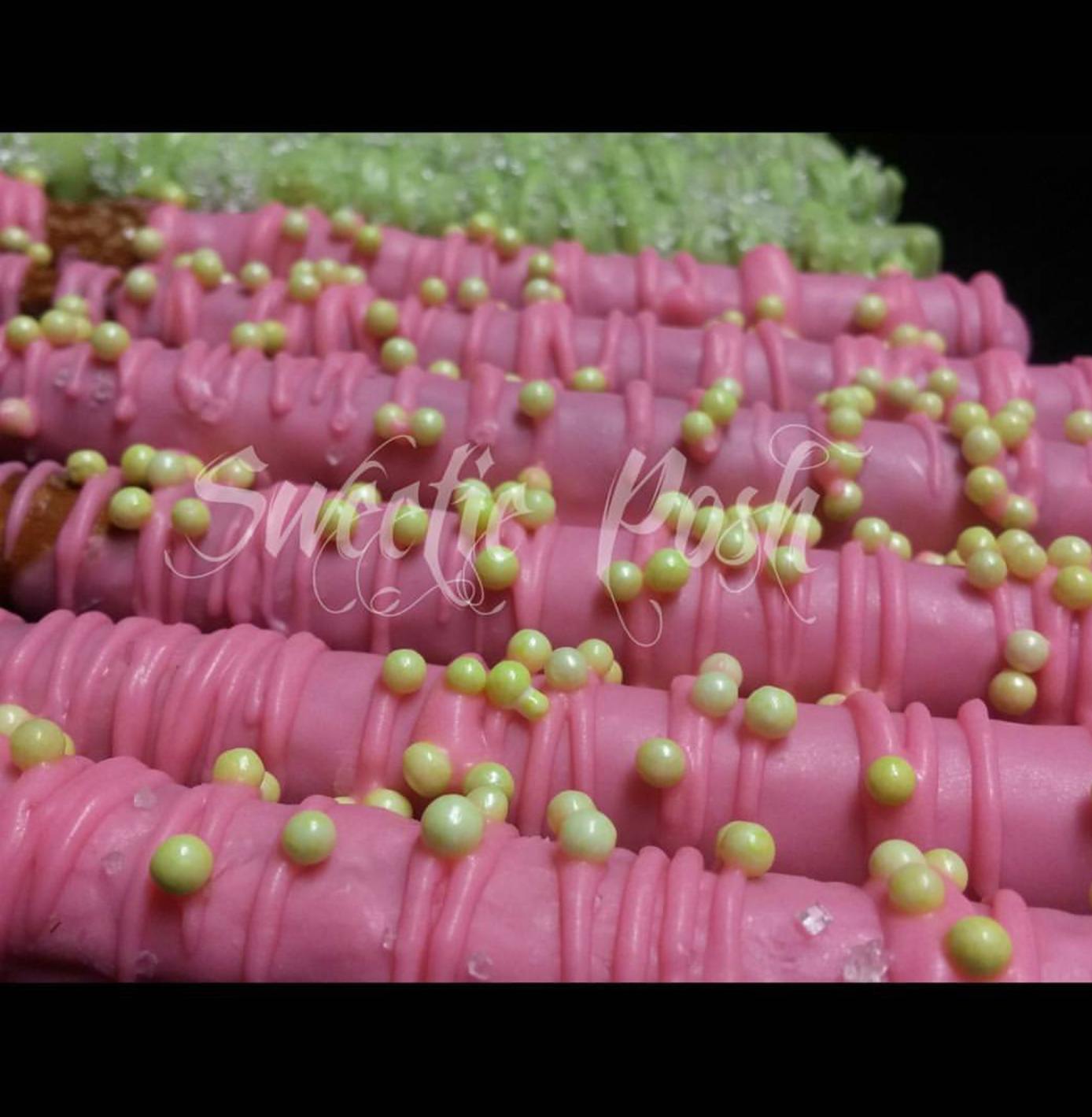 Custom Colored Pretzels