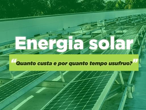 Energia solar: pague em 4 anos e garanta 25 anos de economia