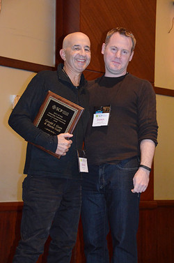 Darren thanks Americus Reed (and Mark Forehand not pictured) for organizing our fantastic SCP confer