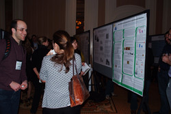 Discussing research at the interesting Poster Sessions