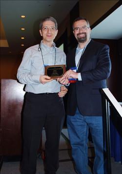 Salvador Ruiz accepts the Best Working Paper Award