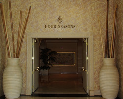 A final glance at our entryway to the Four Seasons