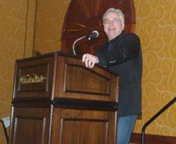 Larry Compeau (Executive Director) is having fun