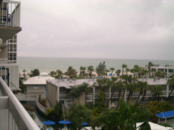 View from St. Pete's beach hotel