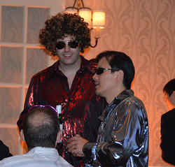 Tom and Michel shine at the SNL party