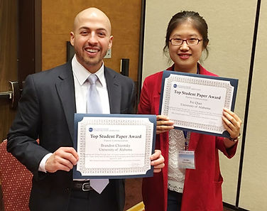 Dr. Brandon Chicotsky and Dr. Fei Qiao, Top Paper Award