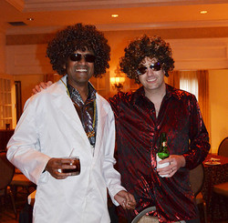 Our conference chairs look a little different that evening at the Saturday Night Fever party