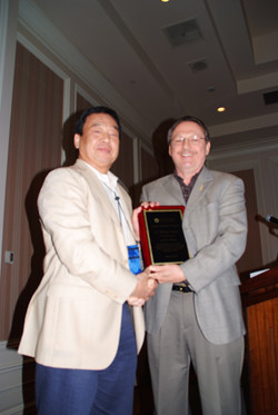 CW Park is honored as 2011 SCP Fellow by Rich Lutz, Fellows Committee Chair