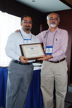 Anirban Mukipedia (oops - Mukhopadhyay) receives the Early Career Award