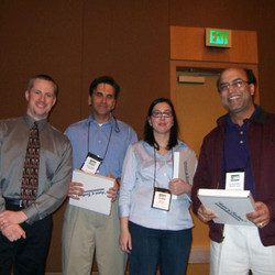 SCP President Steve Posavac with conference chairs Alex Chernev, Michal Herzenstein, and Shelly Jain