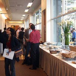 The research discussions continued during the coffee breaks