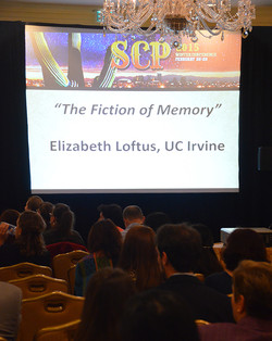 """She gave a very interesting talk entitled """"The Fiction of Memory."""""""