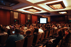 Both talks drew a large crowd