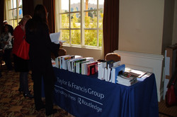 Taylor Francis also had a booth at the conference