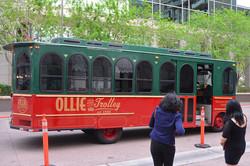 We arrived via trolley