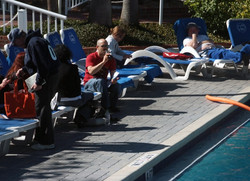 Looks like Gal Zauberman hung out by the pool rather than attending sessions