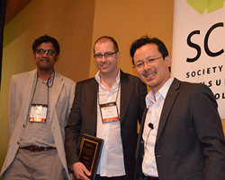 Michel thanks Raj Raghunathan and Tom Meyvis for organizing our fantastic SCP conference in San Anto
