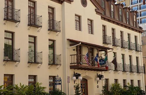 We were at the Omni La Mansion Hotel