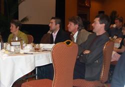 Current President, Hans Baumgartner, President-Elect J.J. Shrum, and conference chair Adam Duhachek