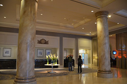 The lovely hotel lobby
