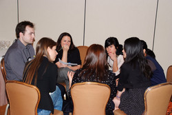 Round table discussions at the PhD Consortium
