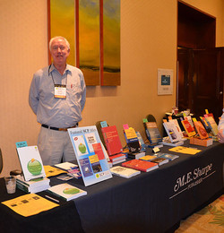 Harry Briggs, at our book publisher's booth, ME Sharpe