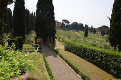 A view of the gardens