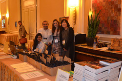 Volunteers helping at the registration