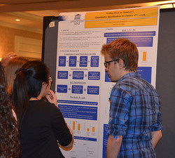 The posters lead to interesting discussions about consumer psychology research