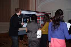 Discussing more research at the interesting Poster Sessions