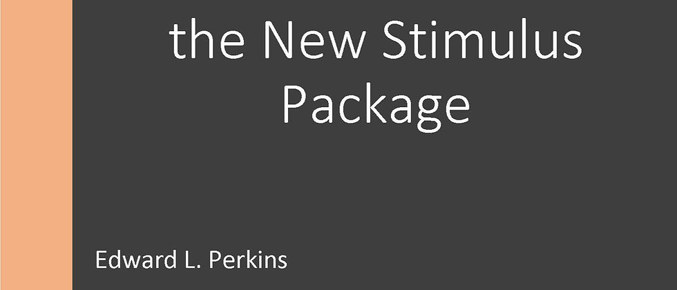 Ted Perkins Discusses the New Stimulus Package