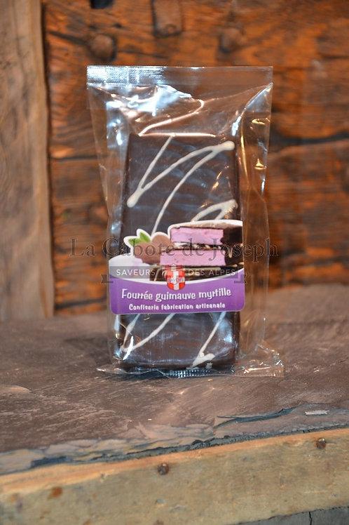Chocolat fourré guimauve myrtille
