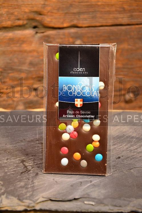 Tablette de chocolat lait bonbons de chocolats