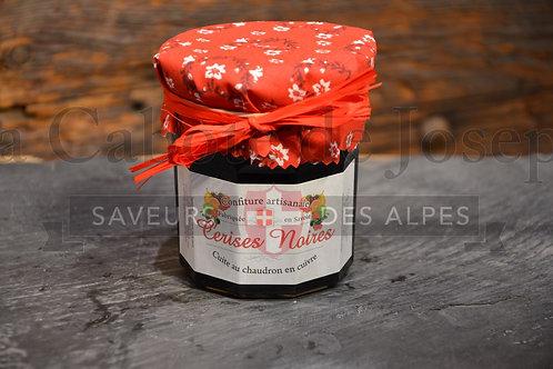 Confiture artisanale de cerises noires 375gr
