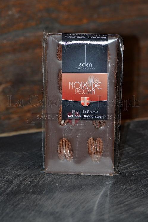 Tablette de chocolat au lait noix de pécan