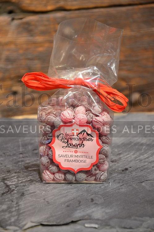 Sachet de bonbons perlette myrtille framboise