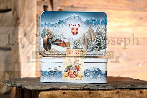 Boîte de Biscuits Assortis décor Bouquetin