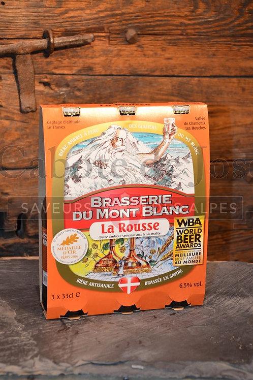 Tripack de bière du Mont Blanc rousse