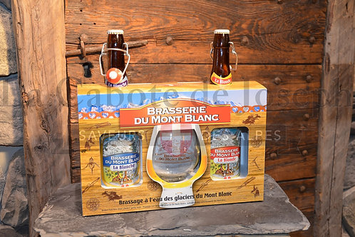Coffret dégustation bières du Mont Blanc