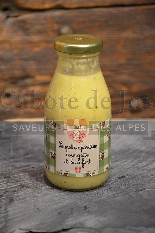 Soupette apéritive courgette beaufort