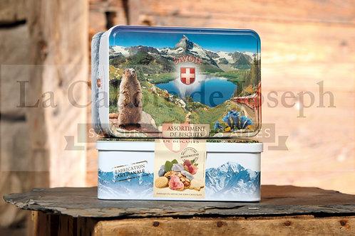 Boîte de Biscuits Assortis décor Marmotte