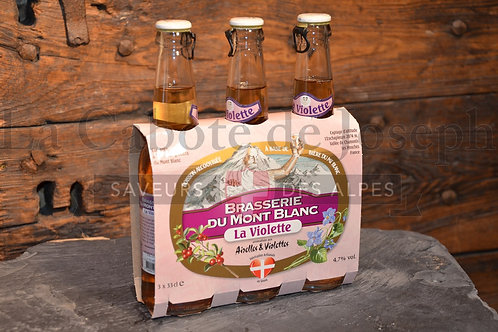 Tripack de bière du Mont Blanc saveur violette