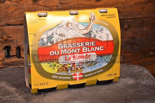 Tripack de bière du Mont Blanc blonde
