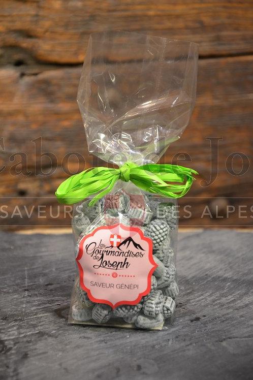 Sachet de bonbons saveur génépi